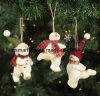 Poly Stone Snowman Decoration, Xmas Hanging Gift