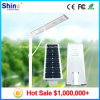 High Lumen 30W Integrated All in One LED Solar Street Light with Mono Solar Panels