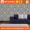 High Grade PVC Deep Embossed Hotel Wallpaper with Waterproof