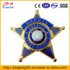 Star Shape Metal Badge with Safety Pin