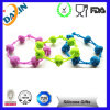 Custom Swirl Silicone Wristband with Website Logo, Rubber Band