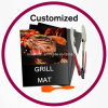 BBQ Grilling Set Mat Brush Tongs