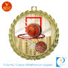 Zinc Alloy Basketball Souvenir Medal with Printed Sticker