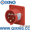 Qixing Industrial Panel Mounted Plug 16A 5p 6h IP44 400V