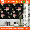 Black Vinyl Wallcovering Luxury Wallpaper for Wall Decoration