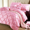 Wholesale Queen and King Size Luxurious Soft Pinch Pleat Decorative Pintuck Bedding Set