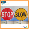 New Products Stop Slow Plastic Traffic Sign for Sale