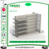Double Side Metal Supermarket Shelf with End Unit