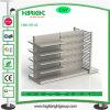 Double Side Metal Supermarket Shelf with End Unit