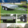 10X5 Tandem Box Trailer in Galvanized