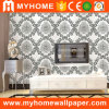 Guangzhou 2016 Design White and Black Wall Paper with Deep Embossed