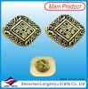 Dubai Lapel Pin Badges Black Texture