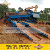 100tph Alluvial Gold Plant Trommel Washing Plant in Guinea