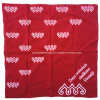 China Factory OEM Produce Customized Logo Fullover Printed Red Cotton Bandana Scarf