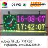 P10RGB Outdoor Full Color LED Sign USB Programmable Rolling Information LED Display Screen 38X12.6 Inch
