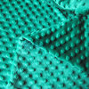 Green Color Minkee DOT Fabric for Baby Sleepingbag Baby Bibs Baby Diaper