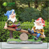 Seesaw Resin Crafts with Gnome Resin Figurine (NF360031)