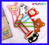 Custom Cartoon Silicone Paper Clip Bookmarks (SCB008)