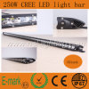 50inch 250W CREE LED Light Bar Single Row Auto Car Truck 4X4 for Jeep Offroad Driving