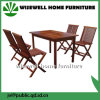 Outdoor Folding Garden Furniture with 4 Chair