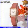 Classic Casual Leather Strap Quartz Ladies Wrist Watch (Wy-056D)