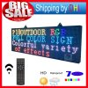 P10 Outdoor 52′′x20′′ Full Color LED Display Remote Control Programmable Message LED Display 7 Color Message Board