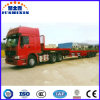 60t Tri-Axle Lowbed Semi Trailer, Hydraulic Steering Trailer