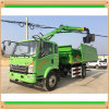 Truck HOWO Crane 4X2 Truck Tractor Mounted Crane Has Clamp Bucket