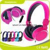 2017 Pink Good Quality Black Wired Headphone Mic