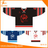 Healong Applique Logo Black/ Red Color Ice Hockey Jersey