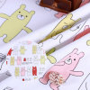 Bear Brother Pattern 250GSM Woven Canvas Fabrics