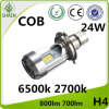 M4 H4 24W COB Motorcycle LED Car Light 6500K 2700K