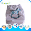2015 White Color Embroidery Horse Baby Diaper