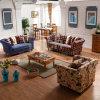 Mediterranean Style Living Room Fabric Sofa