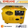Water Cooling 6kw Red Yellow Electric Diesel Generator