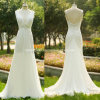 Cheap A-Line Chiffon V-Neck Long Bridal Gowns Bridesmaid Wedding Dresses Z8039