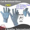 13G PE/Glass Fiber Knitted Glove with Cow Split Leather Palm/ En388: 4544
