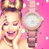 Vs-495 Ladies Plastic Luxury Bracelet Watches with Ceramic Fine Steel Strap