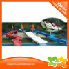 Long Curving Outdoor Pool Plastic Water Slide Amusement Park for Sale