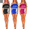 off Shoulder Belted Fashion Lay Suit Club Party Clothes (L55328)