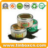 Round Tin Tea Box with Food Grade, Tea Can