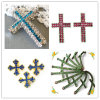 New Arrival Style Shamballa Crystal Pave Sideway Cross Charm