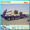80-100tons 4 Axles Lowbed Semi Trailer with Dolly (LAT9404TDP)