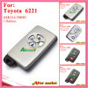 Smart Key for Toyota with 3buttons Fsk312MHz 6221 ID71 Wd01 Alphapreviasienna 2005 2008 Silver