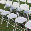 Plastic Metal Folding Chair for Event Rentals