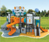 China Low Price High Quality Plastic Slide Outdoor Preschool Adventure Playground Equipment for Children