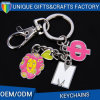 Promotional Custom Unique Letter Keychain with Mini Tourist Charms Remembrance