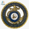 Top Sell Zinc Alloy Hollow Bronze Custom Navy Commomerate Coin with Enamel (JIABO-1053)