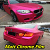 Matte Chrome Ice Film, Rose Red Matte Chrome Vinyl Film for Vehicle Wrapping