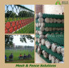 Football Field Chain Link Fence / Plastic Coated Diamond Wire Mesh (DEK-CLF)